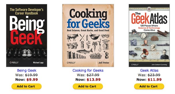 O'Reilly Ebook Deal of the Day Geek Culture Picks